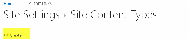 Create SharePoint content type for managing contents